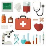 Icone mediche immagini stock