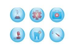 Icone mediche Fotografia Stock