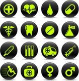 Icone mediche Fotografia Stock Libera da Diritti