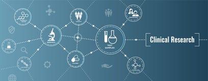 Icone mediche di sanità con la gente che traccia una carta della malattia/Scientif illustrazione di stock