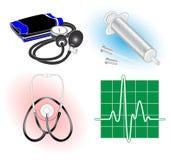 Icone mediche di vettore Fotografia Stock