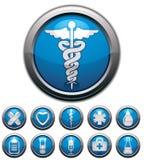 Icone mediche impostate Fotografie Stock