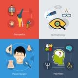 Icone mediche impostate Immagine Stock