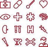 Icone mediche (vettore) Fotografie Stock