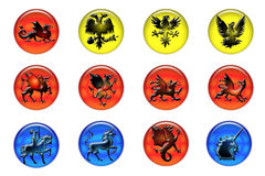 Icone medioevali Immagini Stock
