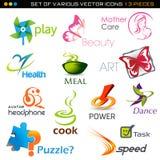 Icone messe illustrazione di stock