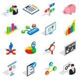 Icone messe, del business plan stile isometrico 3d illustrazione vettoriale