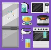 Icone messe dell'elettrodomestico Fotografia Stock