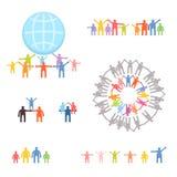 Icone messe della famiglia e delle relazioni Immagine Stock Libera da Diritti