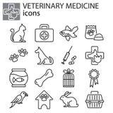 Icone messe - medicina veterinaria illustrazione di stock
