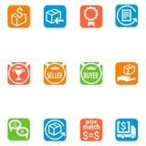 Icone messe per la parte 2 di commercio elettronico Illustrazione Vettoriale
