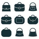 Icone messe, raccolta di vettore della borsa di simboli Immagini Stock Libere da Diritti