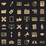Icone messe, stile del deposito del simle illustrazione vettoriale