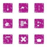 Icone messe, stile di colorazione di lerciume illustrazione vettoriale
