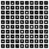 100 icone messe, stile di hobby di lerciume Immagini Stock Libere da Diritti