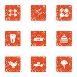 Icone messe, stile di idoneità fisica di lerciume royalty illustrazione gratis