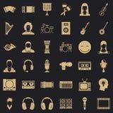 Icone messe, stile semplice del musicista illustrazione vettoriale