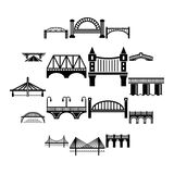 Icone messe, stile semplice del ponte Immagine Stock