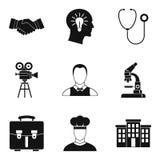 Icone messe, stile semplice della stretta di mano Fotografia Stock