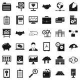Icone messe, stile semplice di affari di soldi Immagini Stock Libere da Diritti