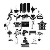 Icone messe, stile semplice di arti marziali royalty illustrazione gratis