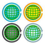 Icone messe - tenga il pianeta Immagine Stock