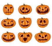 Icone messe, variazione della zucca di Halloween di emozione Royalty Illustrazione gratis