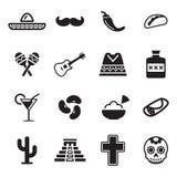 Icone messicane della cultura Fotografia Stock
