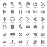Icone metalliche di Web impostate Immagini Stock Libere da Diritti