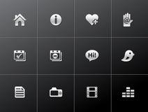 Icone metalliche - portafoglio personale Immagine Stock