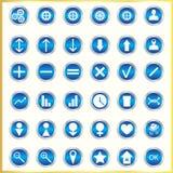 Icone metallizzate Fotografia Stock