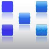Icone metallizzate Immagine Stock Libera da Diritti