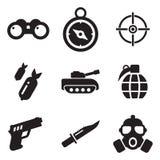 Icone militari Immagine Stock Libera da Diritti