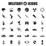 Icone militari impostate Fotografia Stock