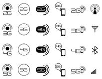icone mobili della rete di 2G 3G 4G Royalty Illustrazione gratis
