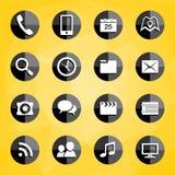 Icone mobili di applicazioni Immagini Stock