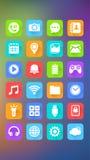 Icone mobili, fondo astratto, applicazione mobile Immagine Stock Libera da Diritti