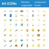 64 icone moderne dell'illustrazione di vettore di progettazione di qualità messe Fotografie Stock Libere da Diritti