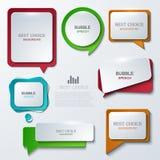 Icone moderne di discorso della bolla di vettore messe Fotografia Stock Libera da Diritti