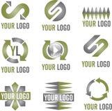 Icone moderne di marchio immagini stock libere da diritti