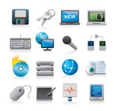 Icone moderne di tecnologia Immagine Stock Libera da Diritti