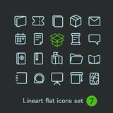 Icone moderne differenti di applicazione web di media illustrazione di stock