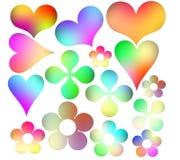 Icone multicolori Immagini Stock