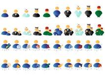 Icone multicolori della gente Fotografie Stock Libere da Diritti