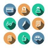 Icone multicolori di affari piani di vettore messe Royalty Illustrazione gratis