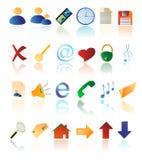 Icone multicolori di vettore Fotografia Stock