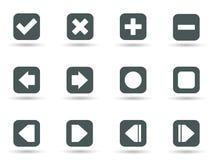 Icone nel formato di vettore Immagini Stock Libere da Diritti