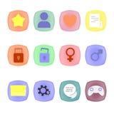 Icone nel quadrato Illustrazione di Stock