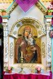 Icone nel vecchio tempio Fotografie Stock Libere da Diritti