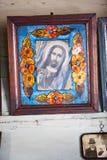 Icone nel vecchio tempio Fotografia Stock Libera da Diritti